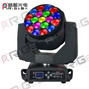 Professional Stage Zoom 19LEDs 15W RGBW 4in1 Hawkeye High Power LED Moving Head Light pictures & photos