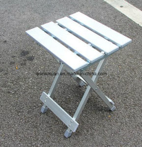 Aluminum Alloy Square Stool Portable Folding Stool Outdoor Camping Fishing Camp Stool Bench Fishing Chair (M-X3433) pictures & photos