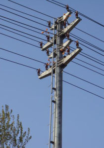 Monopole Power Transmission Tower (10kv-1000kv) pictures & photos