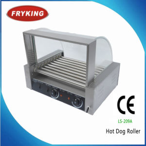Stainless Steel Glass Cover Ce Approved Hot Dog Roller pictures & photos