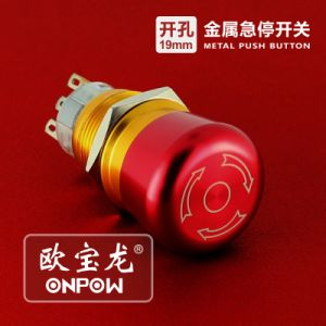 Onpow Push Button (LAS1-AGQ-11E/R/12V/N, 19mm, CE, UL, CCC, RoHS) pictures & photos