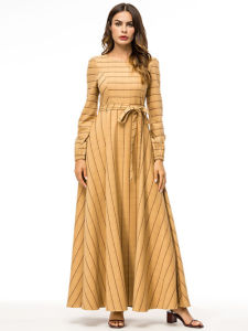 fb6a69ea63af8 China Womens Long Sleeve Fall Winter Party Gown Maxi Dress Islamic ...