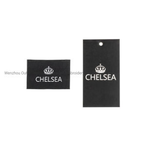 Branded Woven Label and Hangtag for a Set Garment Accessories