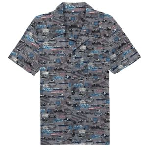 88194b96d China Western Wear Vintage Cars Printed Short Sleeves Men Buttons ...