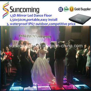 New Design 3D Mirror Time Tunnel DJ LED Dance Floor pictures & photos