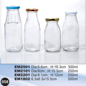 Hot Sale Round Shape Glass Drink Storage Mason Jar