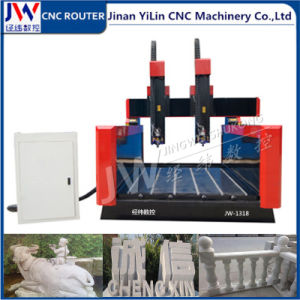 2 Independent Spindles CNC Router for Marble Granite Ceramics Engraving
