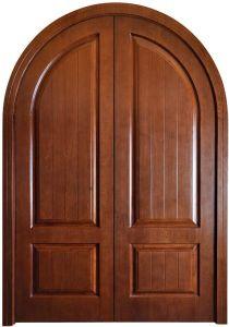 Double Door Desing Mdf Composite Wood Door