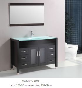 Sanitary Ware Glass Basin Vanity Bathroom Cabinet