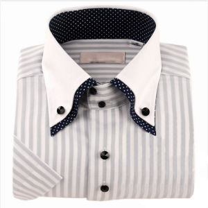 65% Cotton 35% Polyester Men′s Dress Shirt