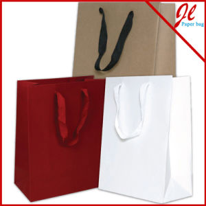 Brown Kraft Paper Shopping Bag Without Printing pictures & photos