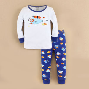 Kids Pajamas Whale Design Mom&Bab Brand 2015 Latest Spring Design (1421401)