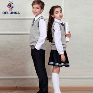 Student Wear Shirt and Vest School Uniform pictures & photos