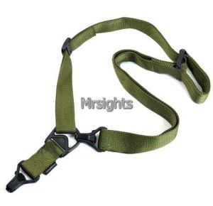Two Point Ms3 Multi Mission Tactical Rifle Airsoft Sling System Adjustable Green