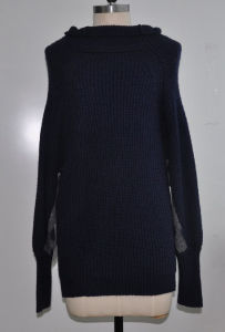 New Fashion Mohair Batwing Sleeve Women Knitwear pictures & photos