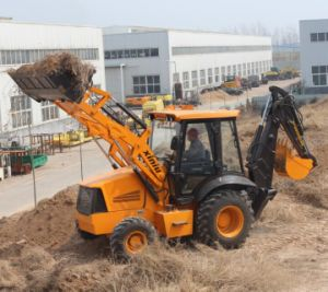 Wz30-25 Backhoe Loader with Carraro Transmission for Tractor Backhoe pictures & photos