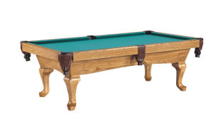 Pool Table in Oak Wood