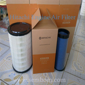 High Performance Engine Air Filter for Hitachi Excavator/Loader/Bulldozer