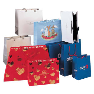 Shaped Fancy Paper Shopping Bags Printing pictures & photos