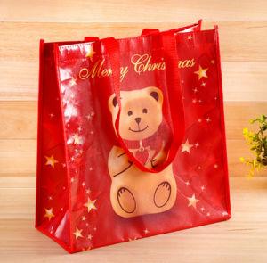 Cheap Christmas Laminated PP Non Woven Gift Bag for Shopping and Promotion