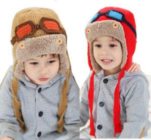 b2e59bfaa53028 Kids Children Cute Winter Warm Knitted Beanie Outdoor Earflap Crochet Caps  Head Ear Warmer Ski Aviator