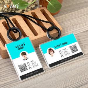 China clear acrylic business card use silicone material id card clear acrylic business card use silicone material id card holdername tag holder colourmoves