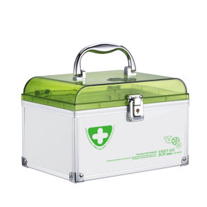 Household Medicial Storage Box Locking First Aid Cabinet