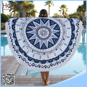 China Supplier Round Beach Towel 100% Cotton Circle Beach Towel
