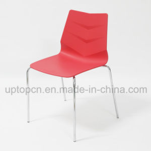 Color Customizable Leaf Shape Plastic Chair with Chrome Steel Leg (SP-UC508) pictures & photos
