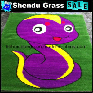20mm Height Artificial Grass Floor Mat with Carton Patten pictures & photos