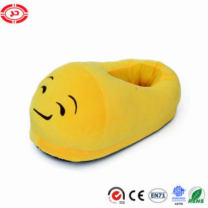 Cute CE Stuffed Plush Shoe Yellow Emoji Slippers Toy pictures & photos