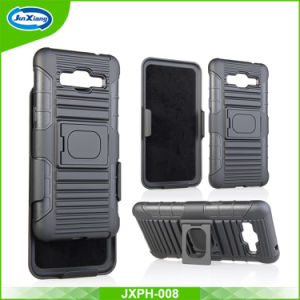 Factroy Price for Ring Armor Holster Combo Case for Samsung G530 Hybrid Case Cover with Kickstand