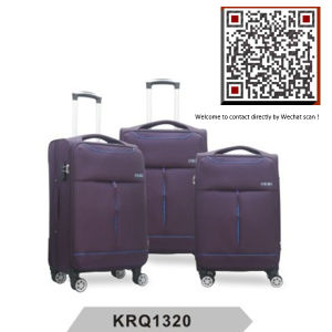 Aircraft Wheels EVA Big Handle Soft Nylon Trolley Luggage (KRQ1320) pictures & photos