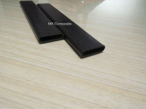 Flat Carbon Fiber Pipe, Low Weight and High Strength Tube pictures & photos