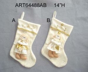 Christmas Home Decoration Angel Stocking, 2asst pictures & photos