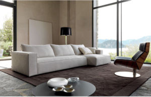 Living Room Furniture Fashion L Shape Sectional Fabric Sofa (corner sofa) pictures & photos