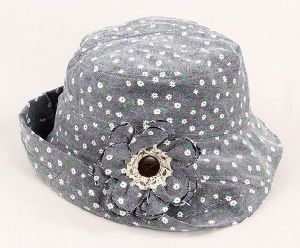 Floral Little Turn up Brim Bucket Hat