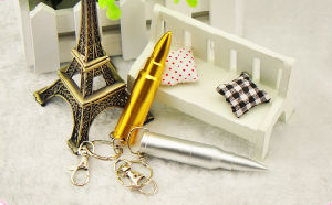 Custom Bullet Shape USB Flash Drive Metal USB Keychain with Free Logo Gift USB pictures & photos