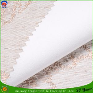 Woven Polyester Linen Coating Flocking Waterproof Fr Blackout Curtain Fabric pictures & photos