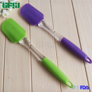 Silicone Kitchenware Kitchen Utensils Spatula Silicone Head with PP Handle pictures & photos