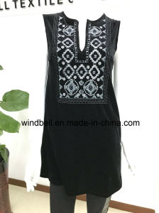 Womens Elegant Dress with Embroidery pictures & photos