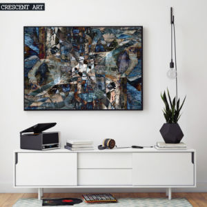 3D Texture Wall Art Abstract Oil Paitning for Decor