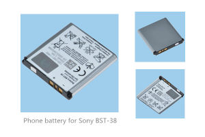 Mobile Phone Battery for Sony-Er BST-38 S500C