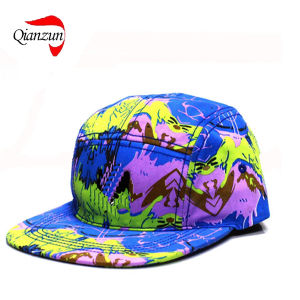 5panels Flat Peak Ink Painting Popular Leisure Hats pictures & photos