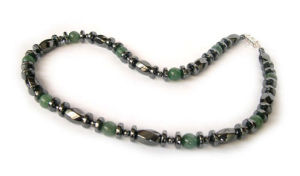 Magnetic/Hematite Gemstone Necklace