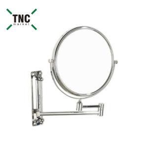 Trifold Magnifying Wall Mounted Swivel Round Mirror Sanitary Set Vanity Dressing Bath