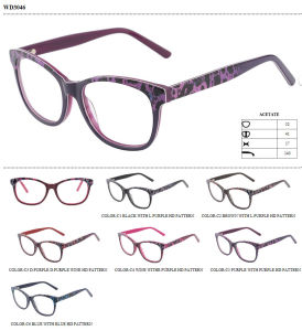Acetate Eyeglasses Frames and Acetate Tips Fashionable Colors pictures & photos