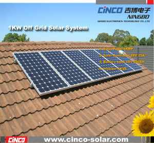 1000W Off-Grid Solar Power System, Stand-alone PV Solar Generator for Home Used
