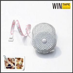 Hot Sales Stainless Bling Bling Plastic Ribbon Tape with Rhinestone Measuring/Promotional Gift for Your Design pictures & photos