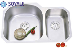 Stainless Steel Under Top Double Bowl Kitchen Sink